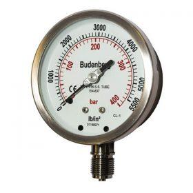 Đồng hồ áp suất mặt 100mm, chân 3/8″