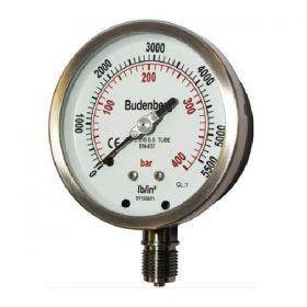 Đồng hồ áp suất mặt 63mm, chân 1/4″
